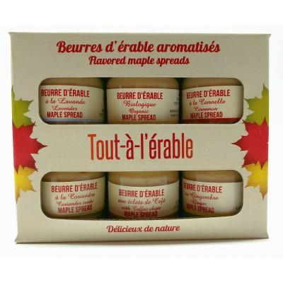 Beurres d'érable aromatisés boîte 6 X 40g